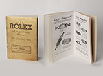 obverse: ROLEX, catalog of Jubilee, 1938. Italian catalog of 32 pages