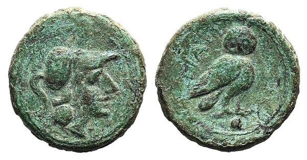 obverse: Apulia, Teate, c. 225-200 BC. Æ Uncia