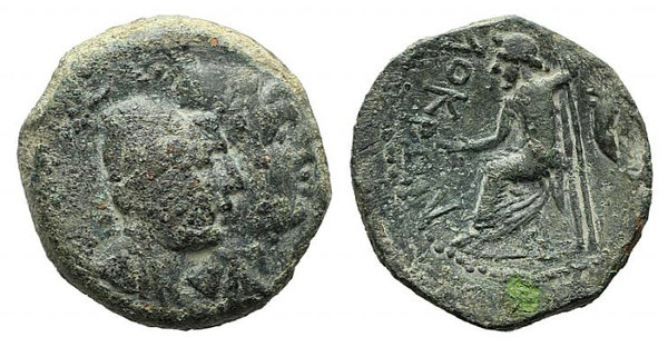 obverse: Bruttium, Lokroi, c. 350-300 BC. Æ