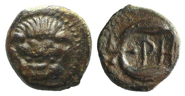obverse: Bruttium, Rhegion, c. 425/0-415/0 BC. Æ
