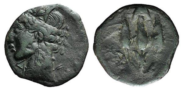 obverse: Carthaginian Domain, Sardinia, c. 241-238 BC. Æ