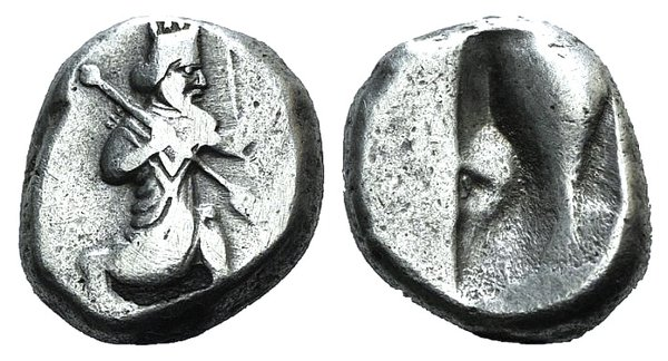 obverse: Achaemenid Kings of Persia, c. 455-420 BC. AR Siglos