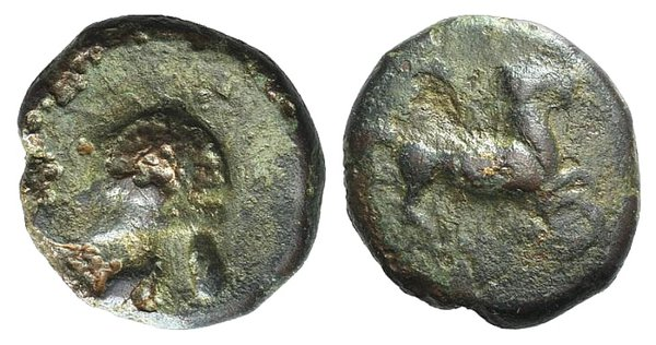 obverse: Sicily, Entella. Campanian mercenaries, c. 345-338 BC. Æ