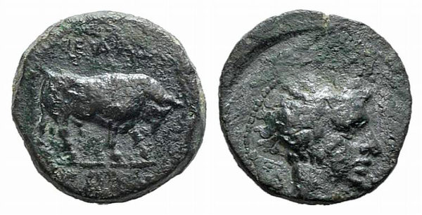 obverse: Sicily, Gela, c. 420-405 BC. Æ