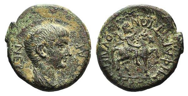 obverse: Nero (54-68). Phrygia, Julia. Æ