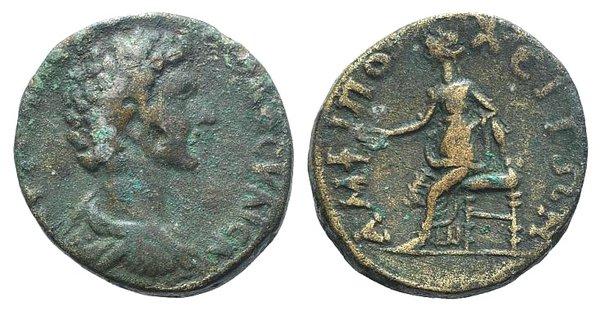 obverse: Marcus Aurelius (Caesar, 139-161). Macedon, Amphipolis. Æ