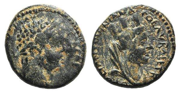 obverse: Caracalla (198-217). Mesopotamia, Carrhae. Æ