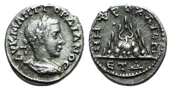 obverse: Gordian III (238-244). Cappadocia, Caesarea-Eusebia. AR Drachm