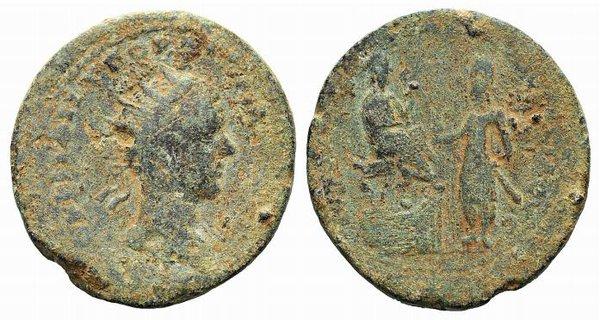 obverse: Gordian III with Abgar X Phraates (238-244). Mesopotamia, Edessa. Æ
