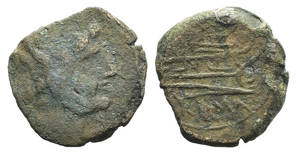 obverse: L series, Luceria, 211-208 BC. Æ reduced As