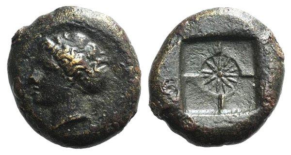 obverse: Sicily, Syracuse, 466-405 BC. Æ Hemilitron