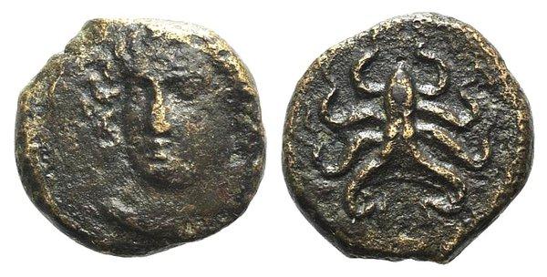 obverse: Sicily, Syracuse, c. 390 BC. Æ Tetras