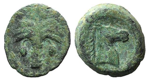 obverse: Carthaginian Domain, Sicily, c. 4th-3rd century BC. Æ