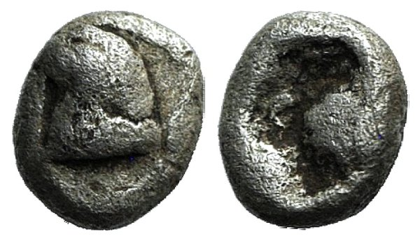 obverse: Thraco-Macedonian Region, Uncertain, c. 500-450 BC. AR Hemitartemorion