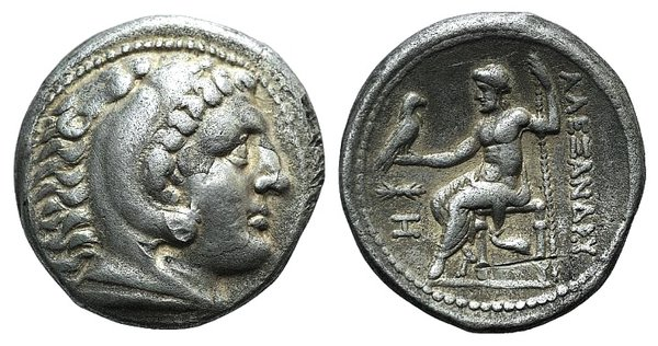 obverse: Kings of Macedon, Alexander III 'the Great' (336-323 BC). AR Tetradrachm