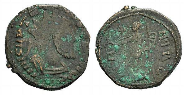 obverse: Barbarous Radiate, imitating Tetricus I, late 3rd century AD-5th century AD. Æ