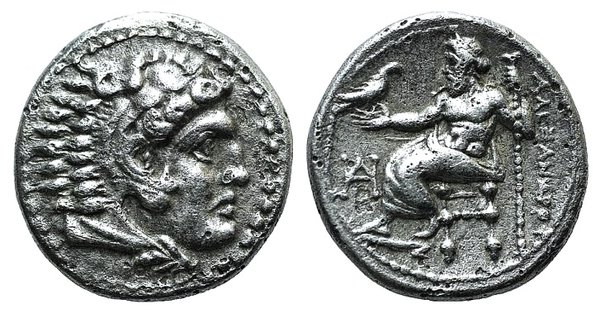 obverse: Kings of Macedon, Alexander III 'the Great' (336-323 BC). AR Drachm