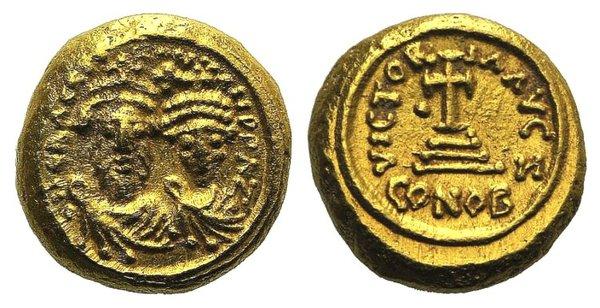 obverse: Heraclius and Heraclius Constantine (610-641). AV Solidus