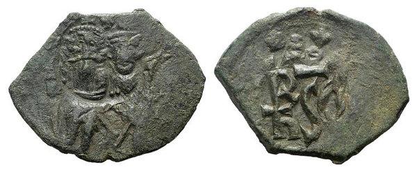 obverse: Heraclius (610-641). Æ 40 Nummi