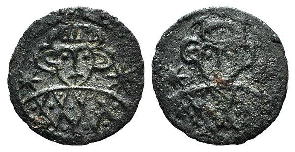 obverse: Constantine V (741-775). AR Half Siliqua