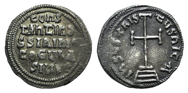 obverse: Constantine VI and Irene (780-797). AR Miliaresion