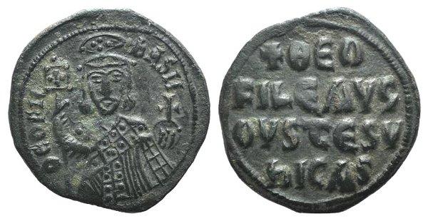 obverse: Theophilus (829-842). Æ 40 Nummi