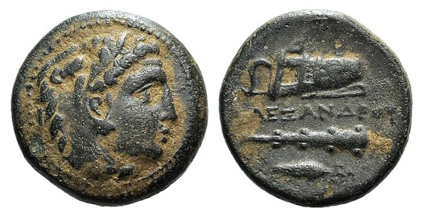 obverse: Kings of Macedon, Alexander III 'the Great' (336-323 BC). Æ Unit