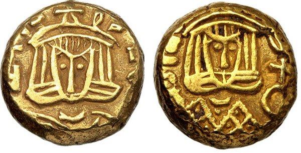 obverse: Theophilus (829-842). AV Solidus imitating Theophilus, Syracuse