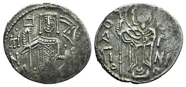 obverse: Manuel I (Emperor of Trebizond, 1238-1263). AR Asper