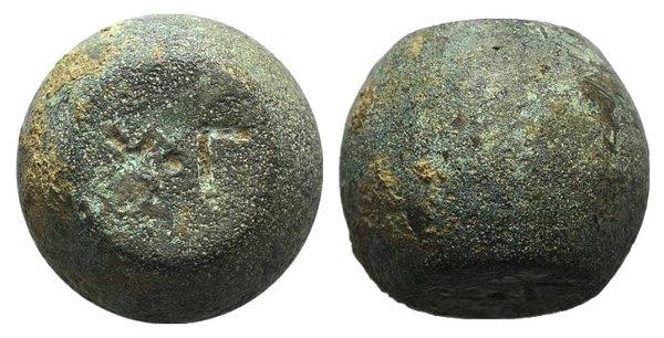 obverse: Byzantine Æ Barrel Weight