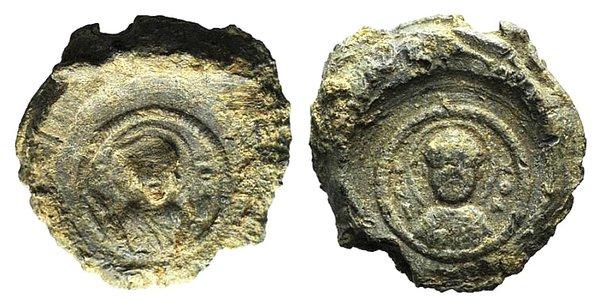 obverse: Byzantine Pb Seal, c. 7th-12th century