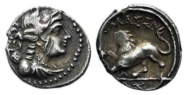 obverse: Gaul, Massalia, c. 130-121 BC. AR Drachm
