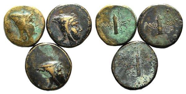 obverse: Pontos, Amisos, lot of 3 Æ coins