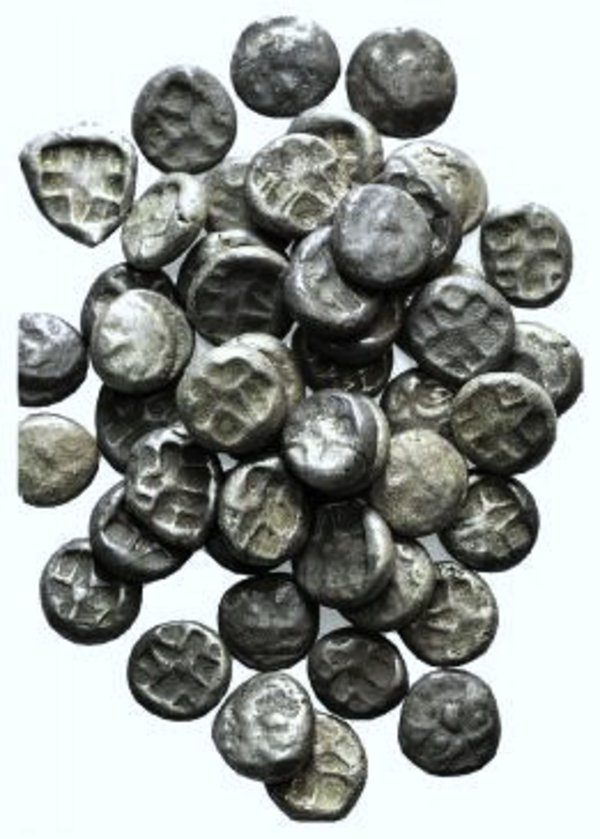 obverse: Mysia, Parion, lot of 50 AR Drachms