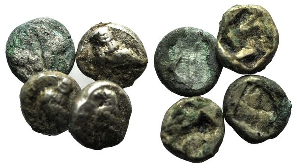 obverse: Lot of 4 Greek AR coins