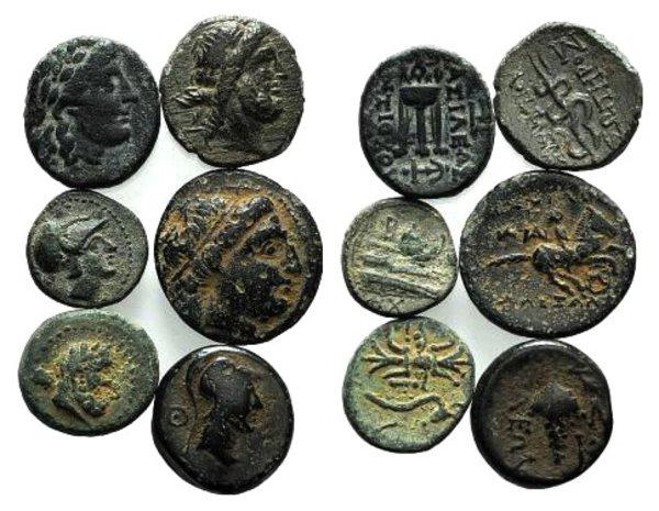 obverse: Lot of 6 Greek Æ coins