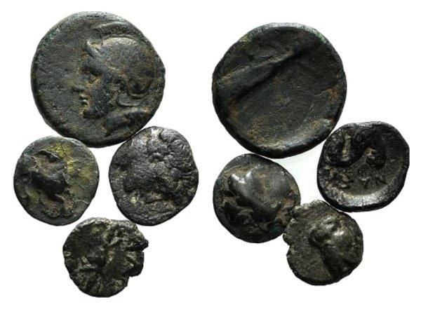 obverse: Lot of 4 Greek Æ coins