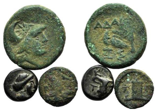 obverse: Lot of 3 Greek Æ coins