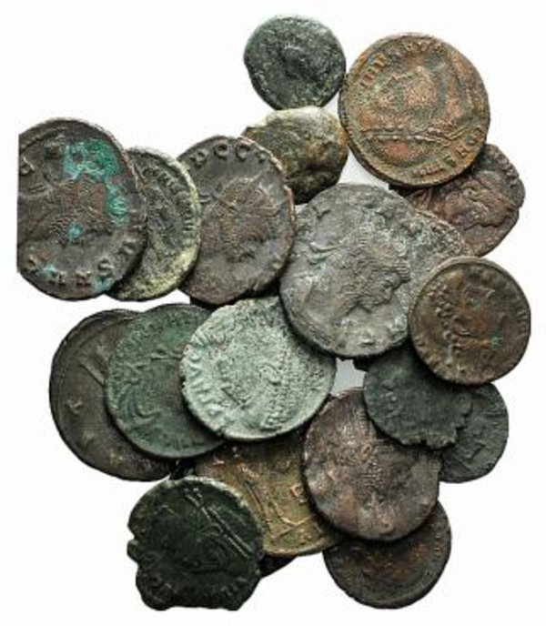obverse: Lot of 21 Greek and Roman coins