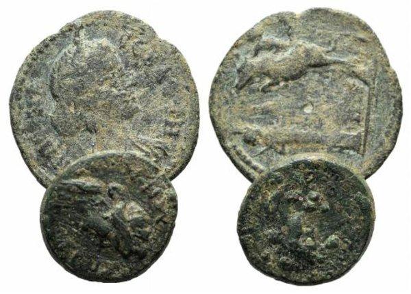 obverse: Lot of 2 Roman Provincial Æ coins