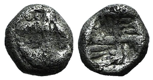 obverse: Thrace, Apollonia Pontika, late 5th-4th centuries BC. AR Hemiobol