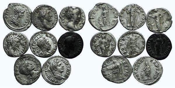 obverse: Lot of 10 AR Roman Denarii
