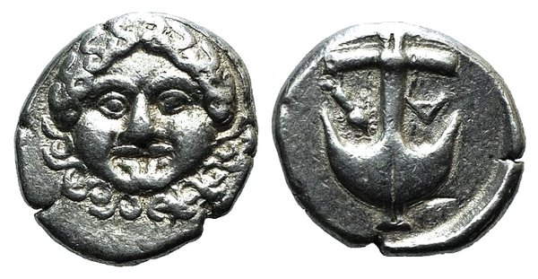 obverse: Thrace, Apollonia Pontika, late 5th-4th centuries BC. AR Drachm