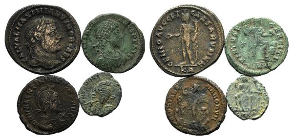 obverse: Lot of 4 Æ Roman Imperial coins