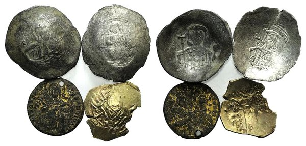 obverse: Lot of 4 Byzantine EL and BI coins