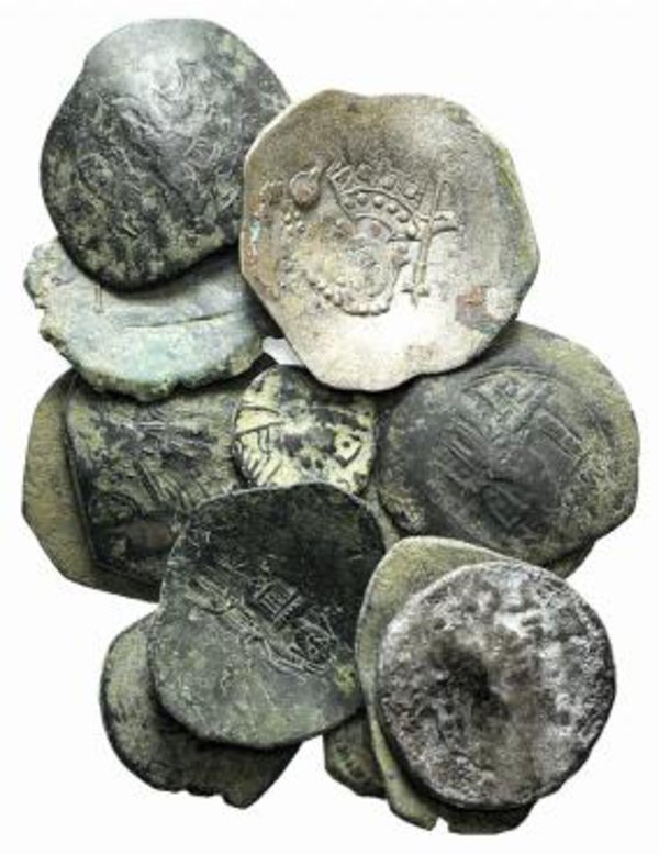 obverse: Lot of 13 Byzantine AR and Æ coins