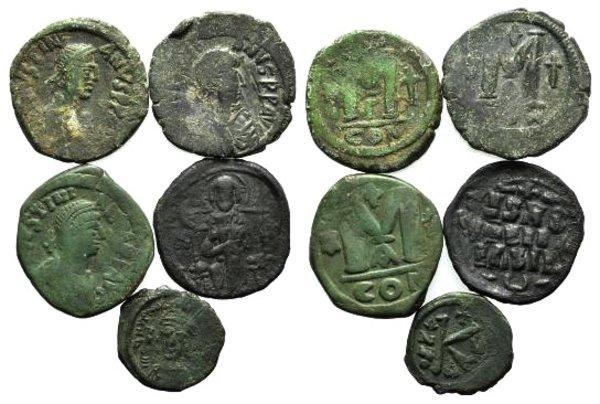 obverse: Lot of 5 Byzantine Æ coins