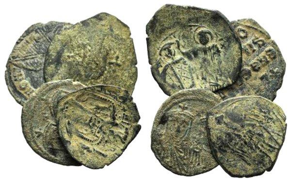 obverse: Lot of 4 Byzantine Æ coins