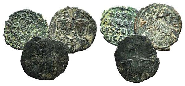 obverse: Lot of 3 Byzantine Æ coins