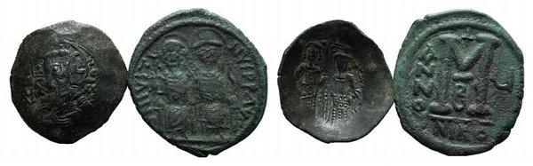 obverse: Lot of 2 Byzantine Æ coins